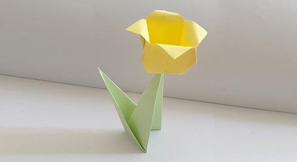Origami-Blume