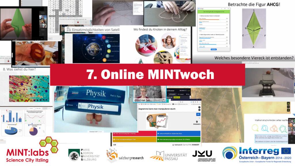 Collage 7. Online MINTwoch